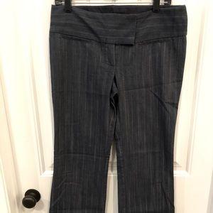 Zinc jean style pin stripe, flare legs pants; 9